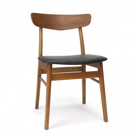 Vintage dining table chair with teak backrest