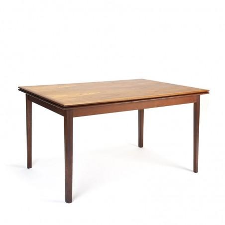 Danish dining table vintage in dark teak