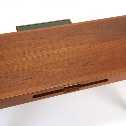 Luxurious Danish vintage coffee table in teak with tray