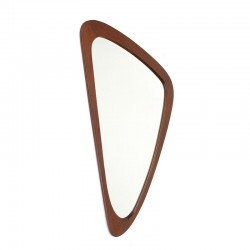 Vintage asymmetrical Danish design mirror