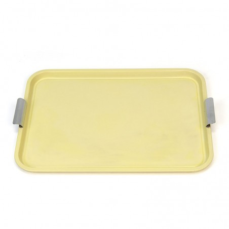 Yellow metal vintage tray 1950s / 60s