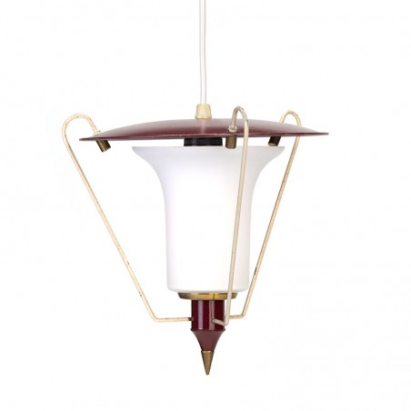 Vijftiger jaren vintage klein hanglampje