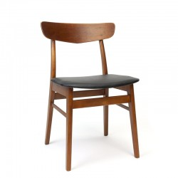 Deense eettafel stoel vintage model in teak