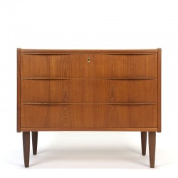 Danish vintage chest of drawers large model with 3 drawers in
