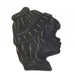 Pottery vintage silhouette of girl