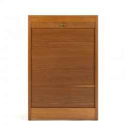 Oak small Danish model vintage filing cabinet