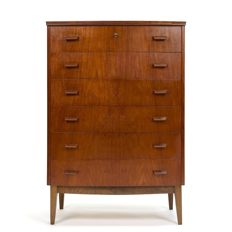 Classic design Danish vintage chest of drawers in teak