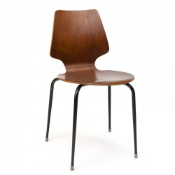Industrial vintage Danish school chair