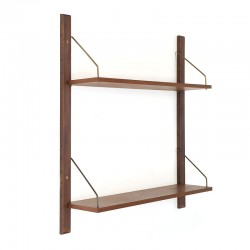 Small Danish vintage bookshelf or wall system in teak