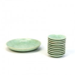 Set of petit four dishes vintage sixties