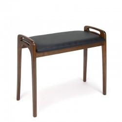 Danish vintage mahogany piano stool