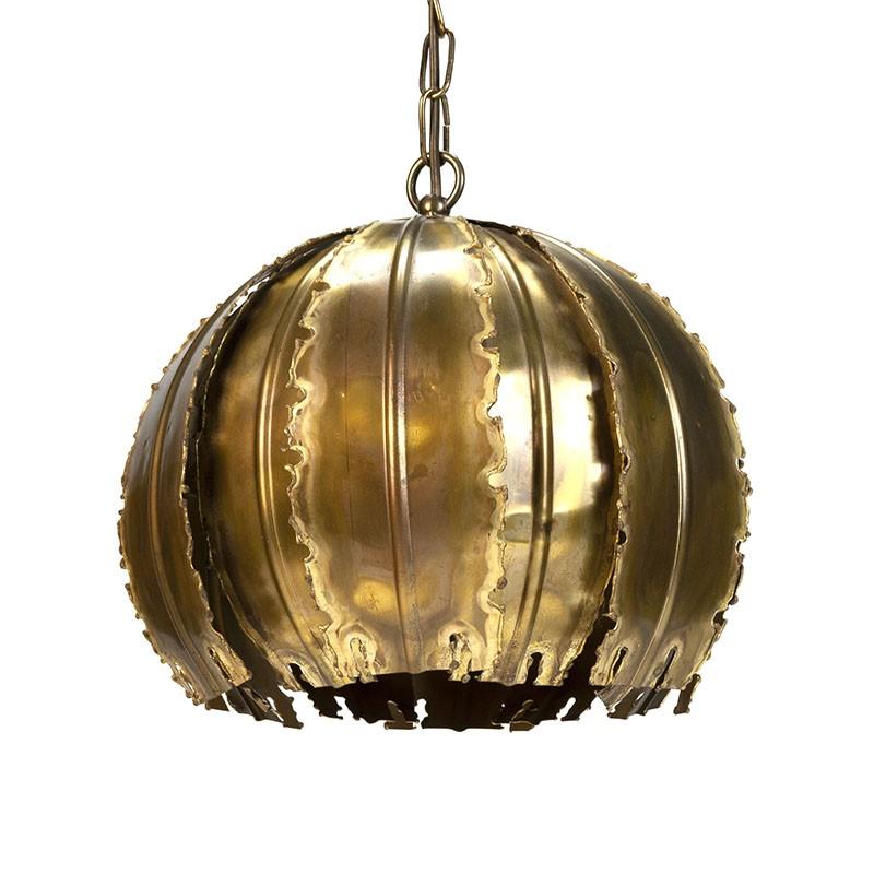 Messing Vintage hanglamp design Holm Sørensen