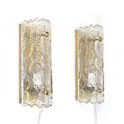 Swedish vintage set wall lamps designed by Carl Fagerlund for
