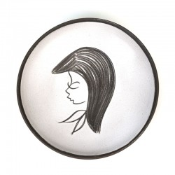 Sixties small wall tile with a lady