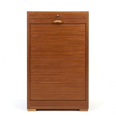 Teak small vintage model Danish filing cabinet