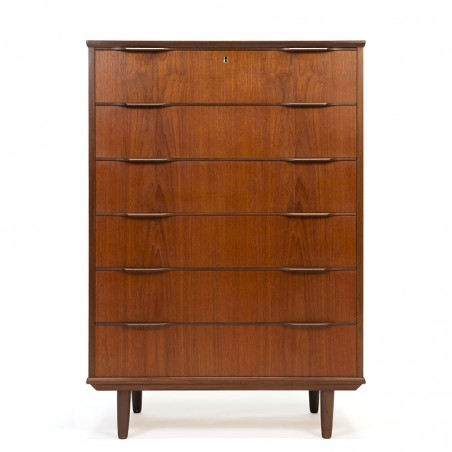 Large teak model vintage Danish chest of drawers