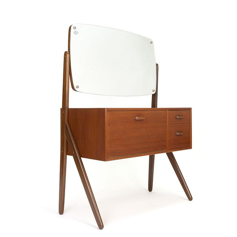 Danish sixties vintage dressing table in teak