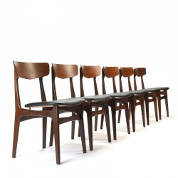 Schiønning and Elgaard set of 6 vintage design chairs