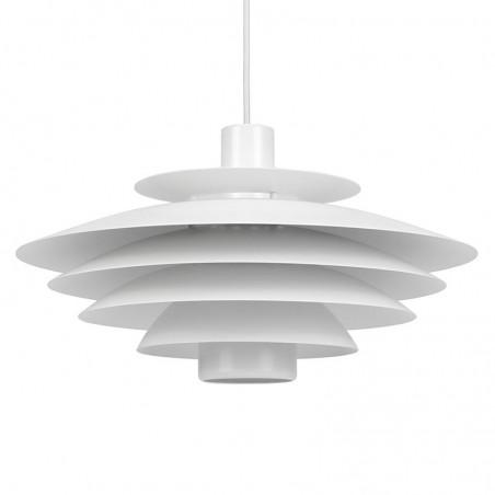 Deense metalen vintage hanglamp in wit