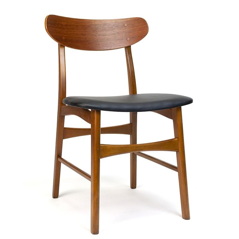 Vintage eettafel stoel in teak Deens model