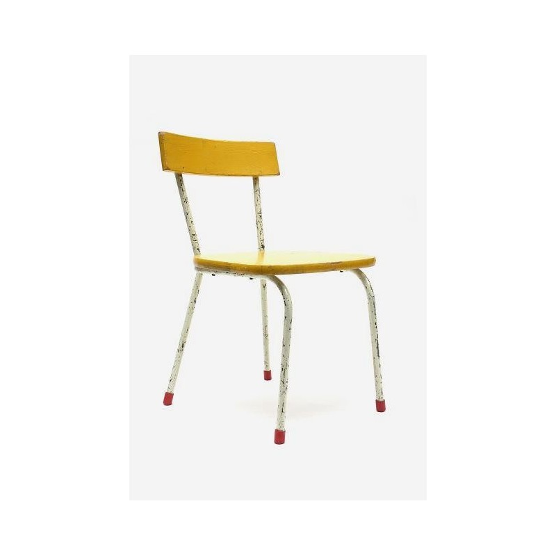 Child's chair with yellow seat