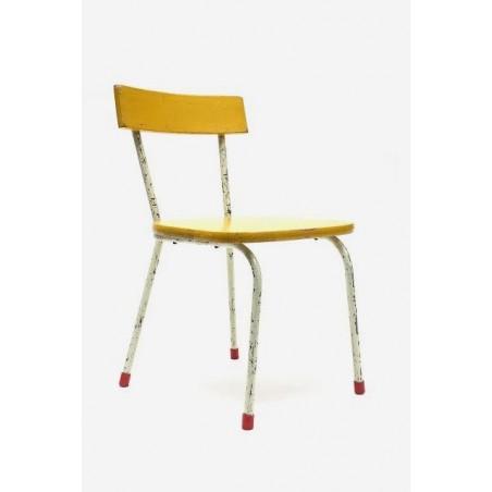 Kinderstoel met gele zitting