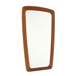 Small vintage Danish mirror with teak frame