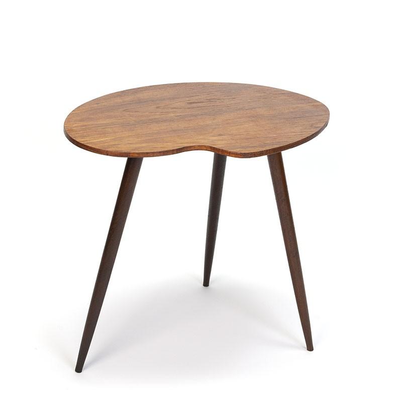 Danish vintage kidney-shaped teak side table
