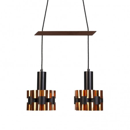 Double vintage Coronell hanging lamp design Werner Schou