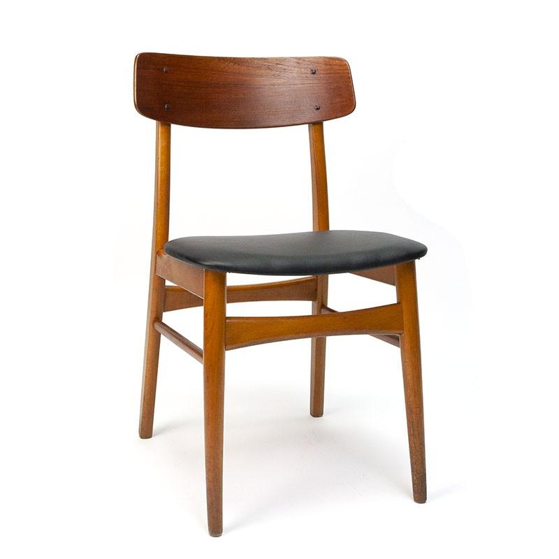 Vintage Deense eettafel stoel uit de begin zestiger jaren
