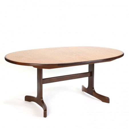 Gplan vintage extendable oval dining table