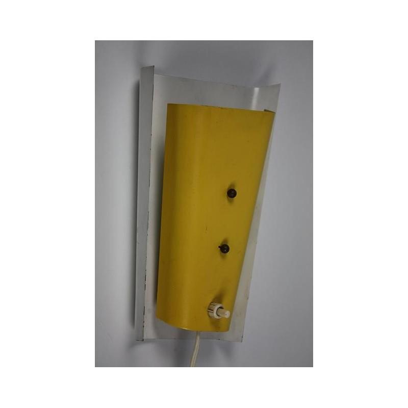 Geel/witte fifties wandlamp