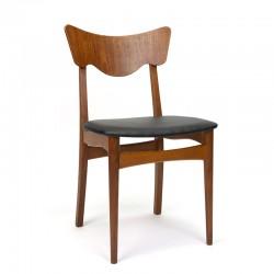 Fifties Danish vintage dining table chair in teak