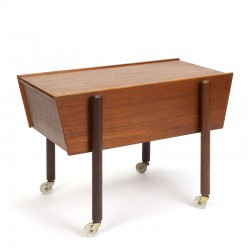 Side table with storage Danish vintage design