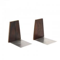 Set van 2 vintage Deense palissander houten boekensteunen