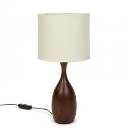 Danish teak table lamp vintage fifties