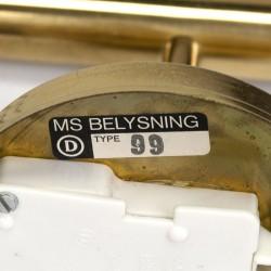 Set of vintage MS Belysning wall lamps model 99