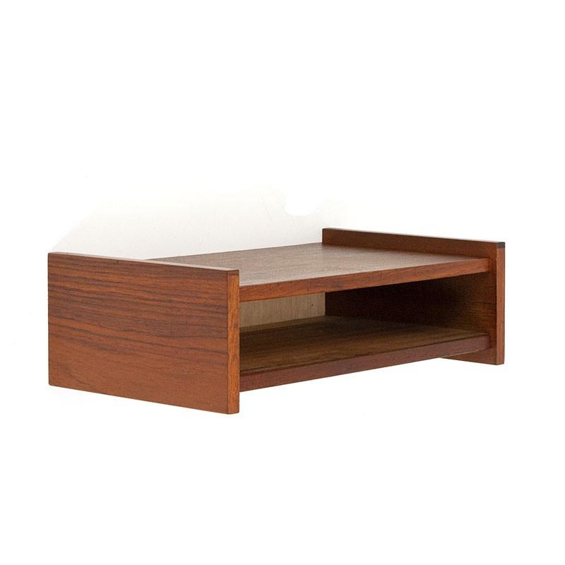 Teak vintage small open wall cabinet
