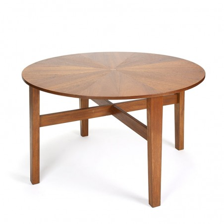 Special vintage Danish dining table with inlaid teak top