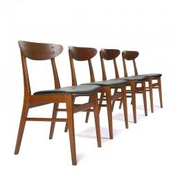 Vintage Farstrup model 210 set van 4 stoelen