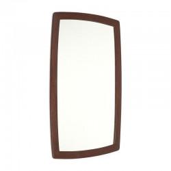 Danish vintage mirror in dark teak frame