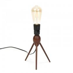 Danish vintage table lamp on 3-leg in teak wood