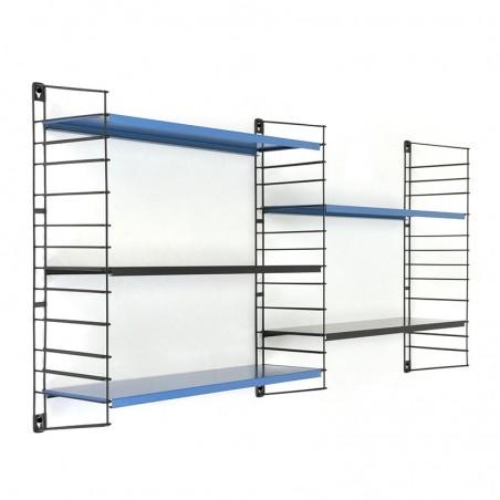Vintage Tomado wall rack with 5 metal shelves