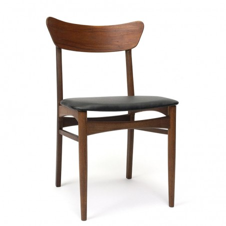 Teak dark teak vintage dining table chair