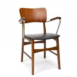 Vintage bureaustoel Deens model met armleuning