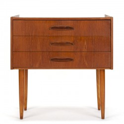 Vintage teak chest of drawers with organic handle