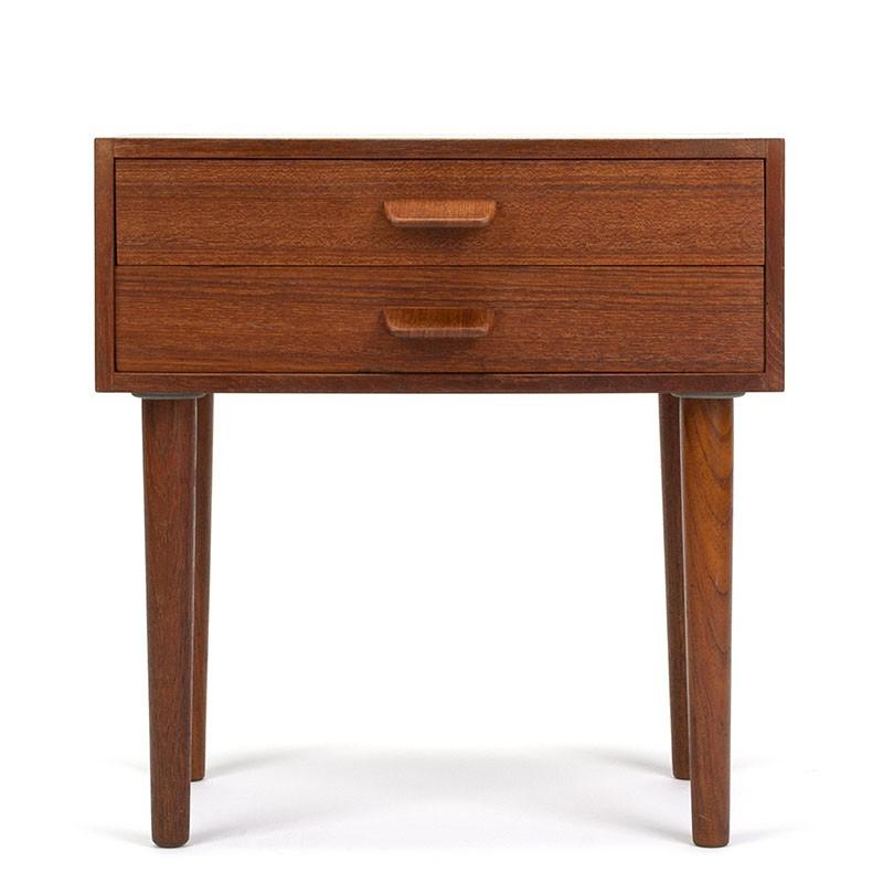 Bedside table Danish vintage design by Poul Volther