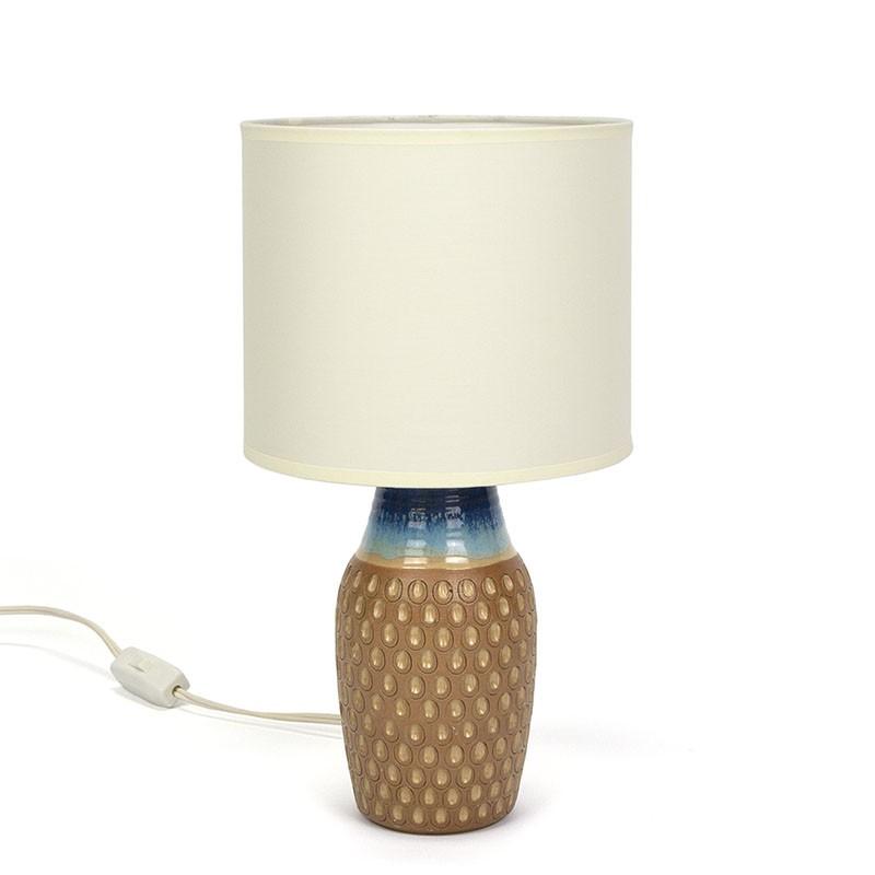 Deense keramiek vintage tafellamp uit Bornholm
