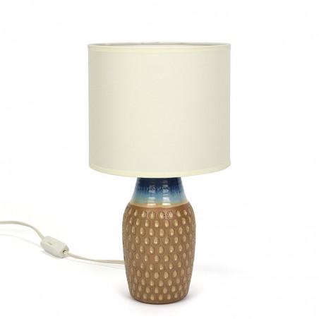Danish glazed stoneware vintage table lamp from Bornholm