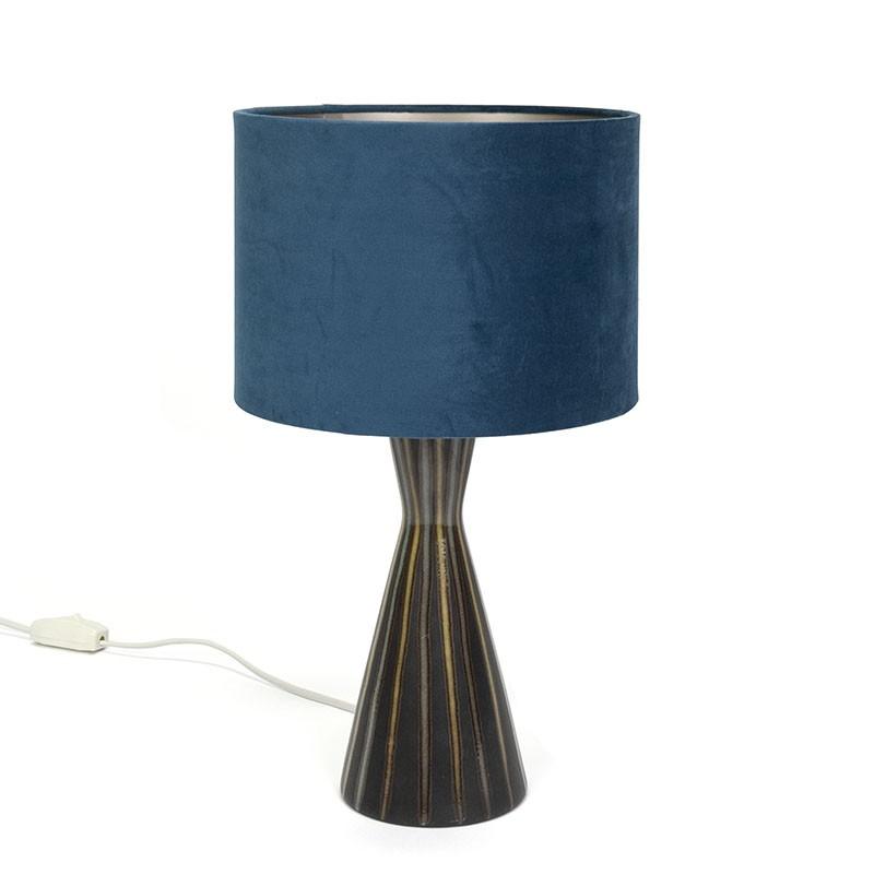 Deense keramiek tafellamp vintage jaren zestig